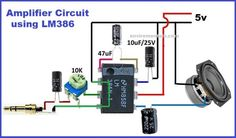 In this article we are going to show you a simple audio amplifier circuit. Circuit diagram of the based audio amplifier is shown in the given. Electronics Projects, Electronic Circuit Projects, Electronics Basics, Impedance Matching, Audio Amplifier, Circuit Diagram, Ac Power, Car Audio, Science And Technology