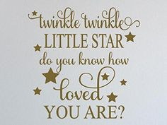 "Twinkle twinkle little star... -Vinyl Wall Decal - Vinyl Quote Me-Gloss Gold-22"" x 22"" Vinyl Quote Me http://www.amazon.com/dp/B00XAZDOD2/ref=cm_sw_r_pi_dp_p.nZwb18GD2NK"