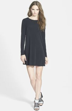 GLAMOROUS+Long+Sleeve+Shift+Dress+available+at+#Nordstrom