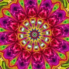 Image created with Gimp Mandala Art, Kaleidoscope Images, Spiral Art, Mandala Coloring Pages, Visionary Art, Colorful Wallpaper, Psychedelic Art, Geometric Art, Fractal Art
