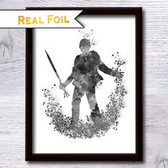 Percy Jackson and the Olympians art decor Percy Jackson poster Percy Jackson real foil print Home decor Kids room wall art Nursery art  For more Percy Jackson wall art posters please see here: https://www.etsy.com/shop/GoldenGlitterArt?ref=hdr_shop_menu&search_query=percy  This is a real foil that makes the illustration sparkles and shines like magic! The special technique transfers the foil on a high quality paper combined with high quality colorful print. ♥ PROMOTION LIMITED TIME ONLY♥ BUY…
