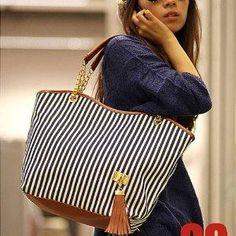 Simplified Style Handbag Elegant Shoulder Bag Canvas Purse