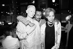 Kanye West and Tilda Swinton attend Mytheresa.com and Haider Ackermann dinner