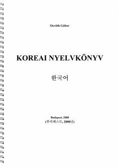 Osváth Gábor - Koreai nyelvkönyv