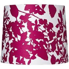 Floral print lampshade. LOVE.