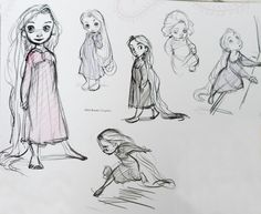 Young Rapunzel. ✤ || CHARACTER DESIGN REFERENCES | Find more at https://www.facebook.com/CharacterDesignReferences if you're looking for: #line #art #character #design #model #sheet #illustration #expressions #best #concept #animation #drawing #archive #library #reference #anatomy #traditional #draw #development #artist #pose #settei #gestures #how #to #tutorial #conceptart #modelsheet #cartoon #toddler #baby #kid