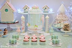 Winter Wonderland dessert table by Torie Jayne