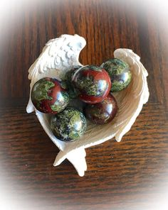 Bloodstone Jasper Natural Stone/ 20MM Crystal Sphere w Free