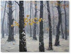 Winter Painting by Igor Ropyanyk Ukranian Artist ~