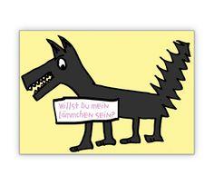 Freche romantische Klappkarte mit Wolf - http://www.1agrusskarten.de/shop/freche-romantische-klappkarte-mit-wolf/    00015_0_944, Comic, Grußkarte, Klappkarte, Liebe, Romantik, Tiere, Valentinskarten, Wolf00015_0_944, Comic, Grußkarte, Klappkarte, Liebe, Romantik, Tiere, Valentinskarten, Wolf