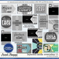Cindy's Layered Cards: EVERYDAY 11 by Cindy Schneider