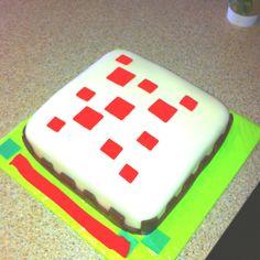 My good friend's creation : Minecraft Birthday Cake :)