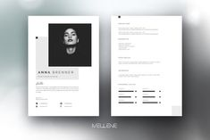 Ad: CV / Resume template for MS Word by Mellene Templates on Welcome to Mellene Templates! Here you can get high quality, creative, fully adjustable CV templates for MS Word that will help you to get Cv Design, Resume Design, Design Art, Creative Design, Graphic Design, Cover Letter Template, Letter Templates, Design Templates, Cover Letters