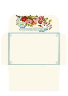 Friday freebie - rose envelope