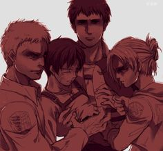 reiner, berth and annie captured eren || http://www.pixiv.net/member.php?id=1309807 [please do not remove this caption with the source]