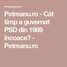 Petreanu.ro - Cât timp a guvernat PSD din 1989 încoace? - Petreanu.ro