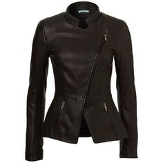 Valeria Jacket ❤ liked on Polyvore featuring outerwear, jackets, jackets and blazers, real leather jackets, 100 leather jacket, genuine leather jackets, leather blazer and fitted jacket