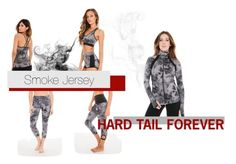 """Hard Tail Forever - Smoke Jersey"" by hardtailforever ❤ liked on Polyvore featuring Leggings, yoga, active and hardtail"