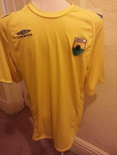 Umbro Climate Control SZ M Shirt Yellow Brasil Patch SOCCER OLYMPICS POLYESTER #UMBRO #ShirtsTops
