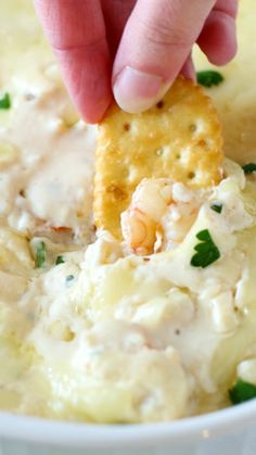 Hot Cheesy Shrimp Dip ~ This dip is going to blow your mind, plain and simple.