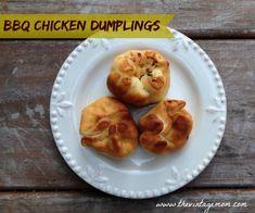 BBQ Chicken Dumplings {Recipe} from the book Dumplings All Day Wong