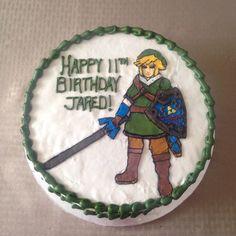 Legend of Zelda Cake - Chocolate Cake with Chocolate Buttercream Filling