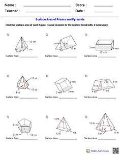Volume of Prisms: Level 1 | Volume worksheets, Geometry ...