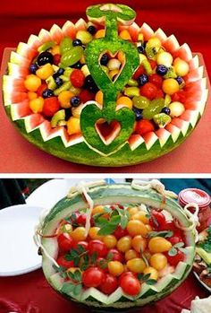 watermelon party table decorations and centerpieces