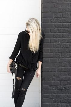 All Black Fall and Winter 2017 Outfit Ideas #fallfashion #winterfashion style blogger