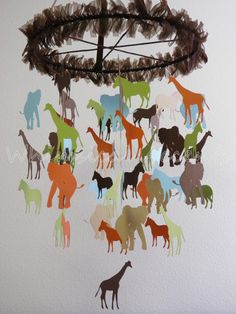 Going on A Safari Baby Paper Mobile  Extra by whimsicalaccents, 85.00