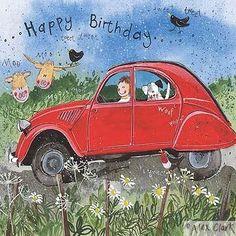 Happy Birthday Card - Citroen 2CV • thank you, citroen fans