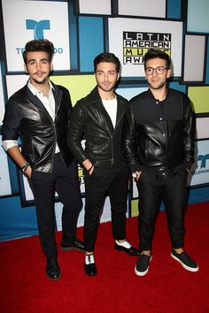 Pop trio Il Volo pose in the press room during the Telemundo's Latin American Music Awards 2015 held at Dolby Theatre on October 8 2015 in Hollywood...