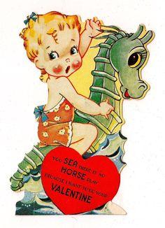 Seahorse Vintage Valentine