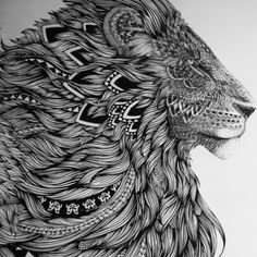 Lion tattoo design Thinking about this for a guitar etching.