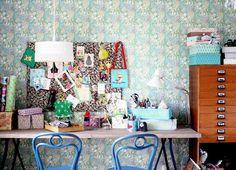 eclectic kids desk space