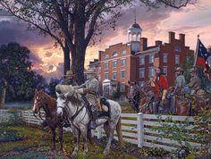 SUNRISE STRATEGY    Generals R.E. Lee, Longstreet, A.P. Hill & Col. Alexander  Lutheran Theological Seminary - Gettysburg, PA - July 2, 1863