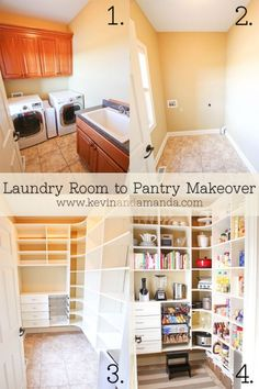 Pantry Makeover Before & After Photos www.kevinandamanda.com