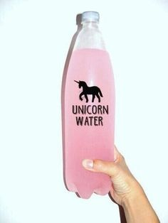 Give it to me #unicorn #water #pink #black #hand