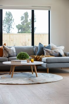 Creating a cozy family room by layering materials and textures. #amilyroom #livingroom #lounge #interiordesign #riverheadshowhome #coatesvilleplan #generationhomesnz Outdoor Sofa, Outdoor Furniture Sets, Outdoor Decor, Cozy Family Rooms, Layering, Lounge, Living Room, Interior Design, Home Decor