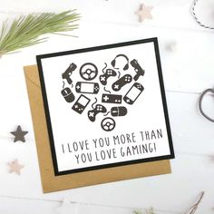 Excited to share this item from my shop: Gamer Card, Gamer Gifts, Gaming Gifts, Gaming Card, Geeky Gift Gifts For Gamer Boyfriend, Birthday Cards For Boyfriend, Gamer Gifts, Gifts For Gamers, Marvel Cards, Romantic Messages, Diy Birthday, Valentines Diy, Anniversary Cards