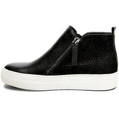 Steve Madden Women's Geri Sneakers ($90) ❤ liked on Polyvore featuring shoes, sneakers, black multi, fleece-lined shoes, black sneakers, black platform sneakers, rubber sole shoes and zip sneakers