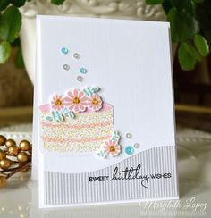 Marybeth's time for paper: Cake Anyone! (PTI Just Desserts) Merry Christmas To You, Cupcakes, Pretty Cards, Paper Cards, Stamping Up, Birthday Cards, Happy Birthday, Homemade Cards, I Card