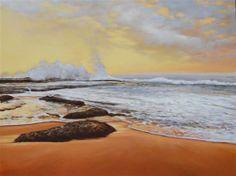 """""""Fiery Waters"""" - Original Fine Art for Sale - © Robyn Chapman"""