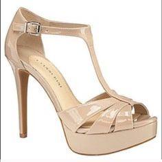 Gianna Bini Heel Nude, strap heel with adjustable ankle buckle. Great condition, worn once! Gianni Bini Shoes