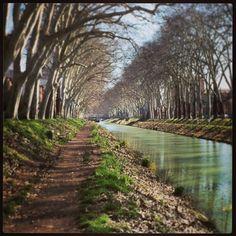 Canal du Midi paikassa Toulouse, Midi-Pyrénées