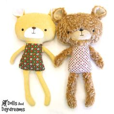 Teddy Bear Sewing Pattern - Dolls And Daydreams