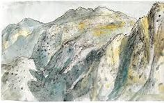 Mountains of Delphi, Sketchbook no. Italy, Greece, Paris 1966 by Lloyd Rees :: The Collection :: Art Gallery NSW Watercolor Landscape, Landscape Paintings, Watercolour, Landscapes, Australian Artists, Monet, Printmaking, Art Decor, Art Drawings