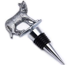 Wolf shape animal wine stopper/3D Silver Metal Chrome Alloy Wine Stopper/funny animal bottle stopper bulk/Customized artworks welcomed/new party or events gifts