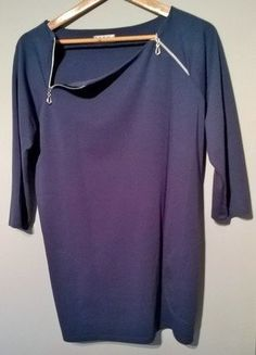 Kup mój przedmiot na #vintedpl http://www.vinted.pl/damska-odziez/tuniki/16649405-atramentowa-tunika-z-suwakami-38-40-42-44-kieszenie-zip
