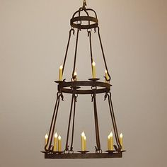 Laura Lee Buckingham 12-Light Large Candle Chandelier
